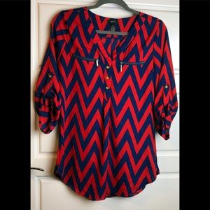 Rue21 red and Blue Tank Top. Size M